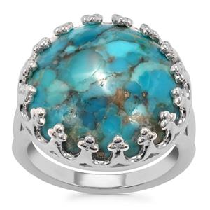 Bonita Blue Turquoise Ring in Sterling Silver 11.72cts