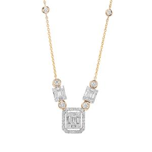 Diamond Necklace in 18K Gold 1.13cts