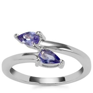 Tanzanite Ring in Sterling Silver 0.58ct