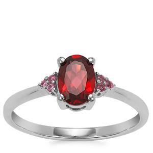 Octavian Garnet Ring in Sterling Silver 0.98ct