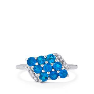 Neon Apatite Ring in Sterling Silver 1cts
