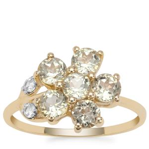 Csarite® Ring with White Zircon in 9K Gold 1.83cts