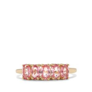 Sakaraha Pink Sapphire Ring in 9K Gold 1.49cts