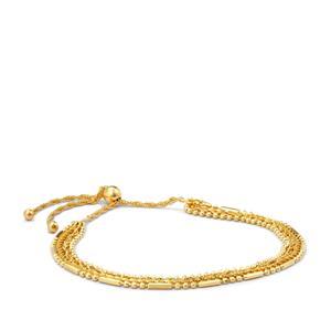 "10"" Midas Altro Multi Strand Adjustable Bracelet 4.79g"