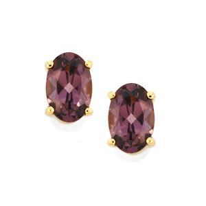 Mahenge Purple Spinel Earrings in 10K Gold 1cts