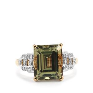 Csarite® & Diamond 18K Gold Lorique Ring MTGW 5.75cts