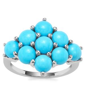 Sleeping Beauty Turquoise Ring in Sterling Silver 4.63cts