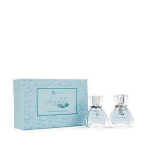 Angelite Eau De Parfum Set 2 x 30ml & 1 Carved Angelite Wing Pendant ATGW 3cts