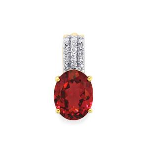 Umbalite Pendant with Diamond in 9K Gold 2.32cts