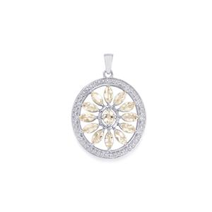 2.66ct Zambezia Morganite Sterling Silver Pendant