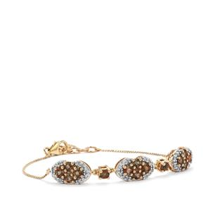 Sopa Andalusite Bracelet with Diamond in 9K Gold 1.73cts