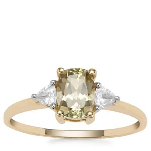 Csarite® Ring with White Zircon in 9K Gold 1.31cts