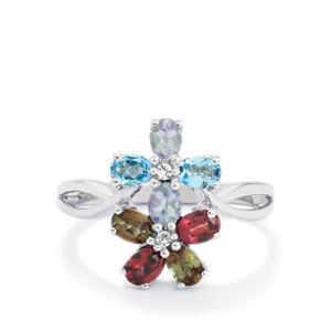 1.49ct Kaleidoscope Gemstone Sterling Silver Ring
