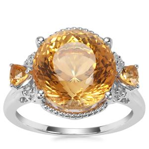 Diamantina Citrine Ring in Sterling Silver 7.50cts