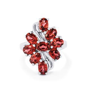4.93ct Rajasthan Garnet Sterling Silver Ring