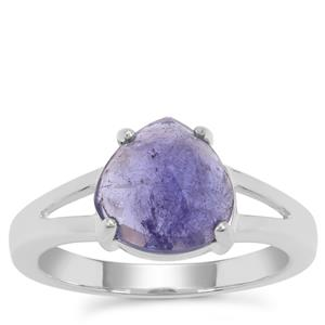 Rose Cut Tanzanite Ring in Sterling Silver 4cts