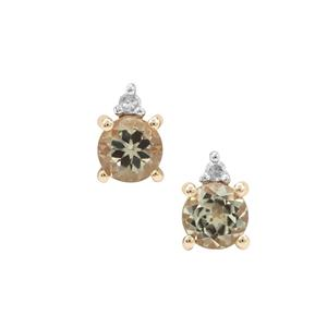 Csarite® Earrings with Diamond in 9K Gold 1.10cts