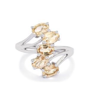 2.07ct Zambezia Morganite Sterling Silver Ring