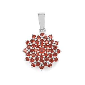 Anthill Garnet Pendant in Sterling Silver 1.92cts