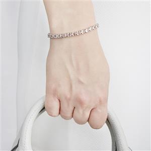 8.89ct Zambezia Morganite Sterling Silver Bracelet