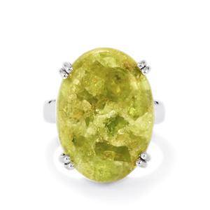 19ct Mojave Peridot Sterling Silver Aryonna Ring
