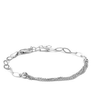"""7"""" Sterling Silver Altro Diamond Cut Fancy Bracelet 2.12g"""