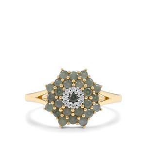 Alexandrite & White Zircon 9K Gold Ring ATGW 0.78cts