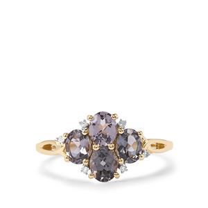 Mahenge Blue Spinel & Diamond 10K Gold Ring ATGW 1.45cts