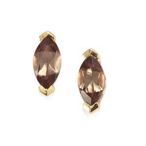 Bekily Colour Change Garnet Earrings in 9K Gold 0.57ct