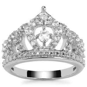 The Celebration White Topaz Crown Sterling Silver Ring 0.72ct