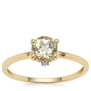 Csarite® Ring with White Zircon in 9K Gold 0.95ct