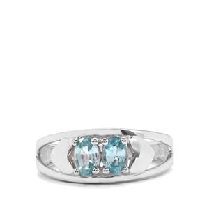 1.21ct Ratanakiri Blue Zircon Sterling Silver Ring