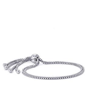 """9"""" Sterling Silver Altro Venetian Slider Bracelet 7.06g"""