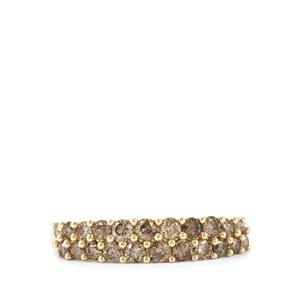 Champagne Diamond Ring in 10k Gold 0.75ct