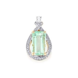 Colombian Emerald Pendant with Diamond in 18k Gold 2.64cts