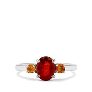Loliondo Orange Kyanite & Diamantina Citrine Sterling Silver Ring ATGW 1.81cts