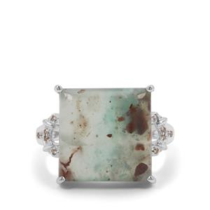 Aquaprase™ Ring with Champagne Diamond in Sterling Silver 8.12cts