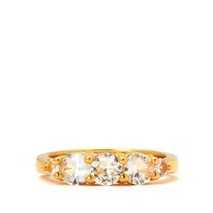 1.51cts Sri Lankan White Sapphire Midas Ring