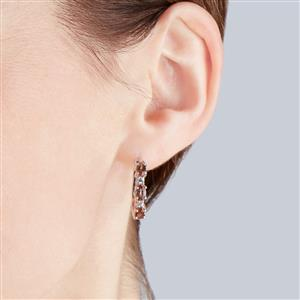 Gouveia Andalusite Earrings with White Zircon in Sterling Silver 1.57cts