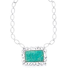 73.10ct Amazonite Sterling Silver Necklace