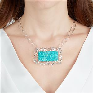 Amazonite Necklace in Sterling Silver 73.10cts