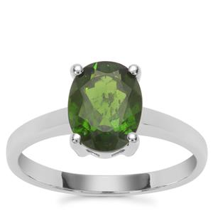 Chrome Diopside Ring in Sterling Silver 1.90cts