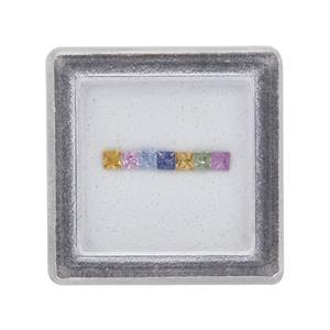 Multi-Colour Sapphire Gem Box  0.55ct