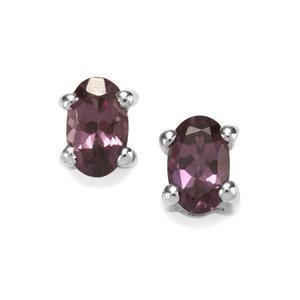 0.55ct Mahenge Purple Spinel Sterling Silver Earrings