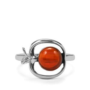 1.72ct American Fire Opal Sterling Silver Ring