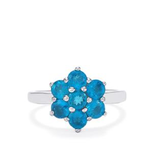 1.79ct Neon Apatite Sterling Silver Ring