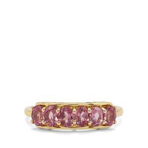 1.39ct Malaya Garnet 9K Gold Ring