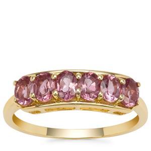Malaya Garnet Ring in 9K Gold 1.39cts