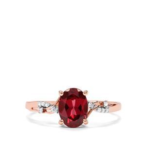 Mahenge Garnet & Diamond 10K Rose Gold Ring ATGW 1.61cts