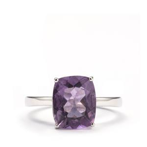 4.50ct Purple Fluorite Sterling Silver Ring
